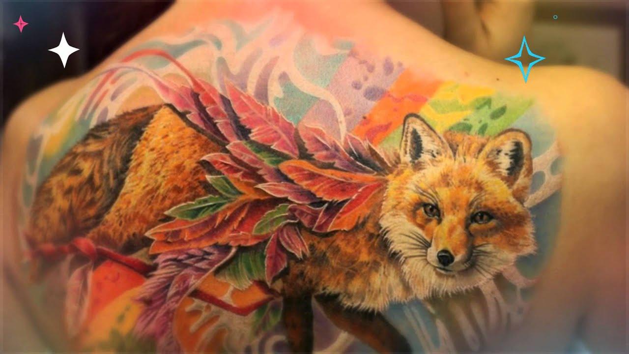 тату лиса 169 фото татуировки эскизы значение мужских и женских