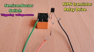 NPN Transistor based DC Relay Drive make | Triggering source (+)voltage | method-1