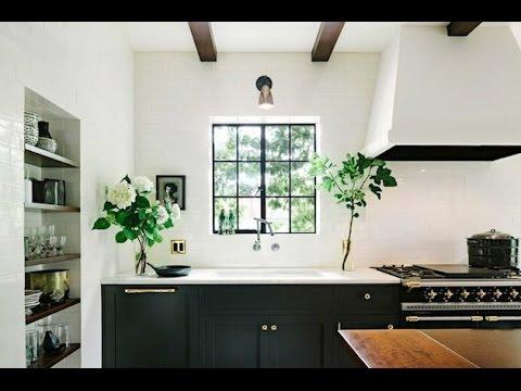 Эффектная Черно Белая Кухня