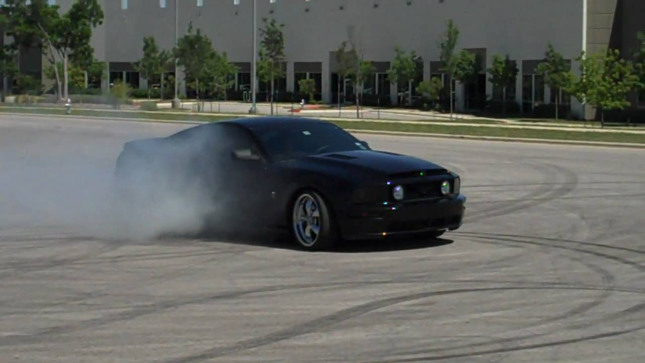 Black 06 Mustang Gt Burnouts Youtube