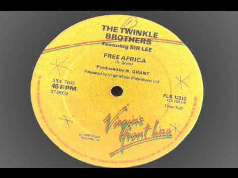 the twinkle brothers & sir lee - free africa - 12 inch - virgin front line  1979 reggae stepper