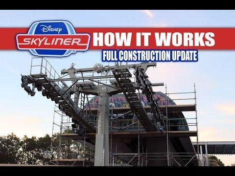 Disney Skyliner Construction Update November 2018 How It Works In Depth Look