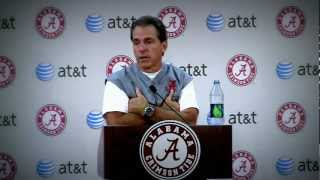 "Nick Saban on ""Traditional"" Uniforms for Alabama Football"