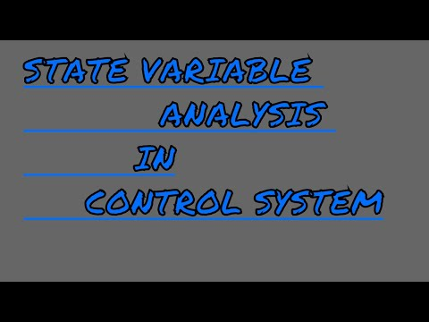 State space analysis in control system