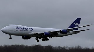 Atlas Air Boeing 747-8F Landing at Luxembourg-Findel Airport