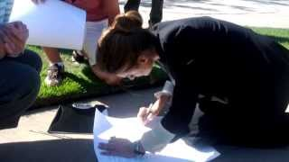 Stana Katic Signing Fan Stuff - August 27, 2013 (part 1)