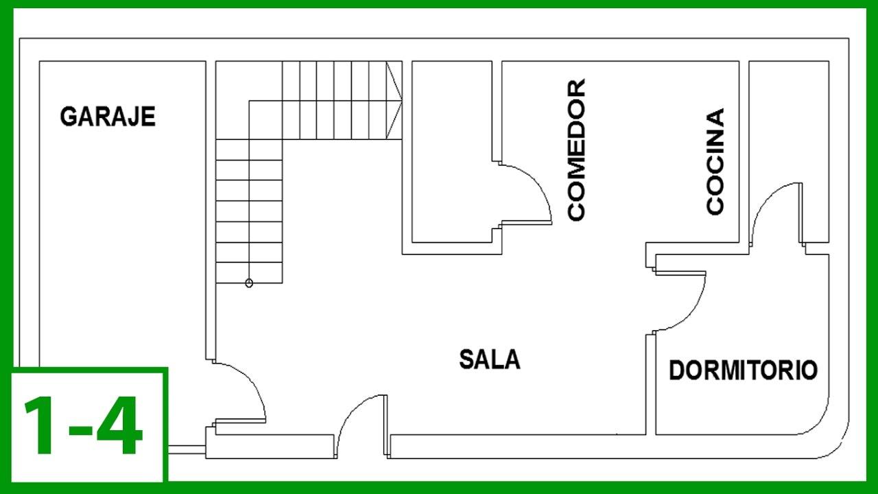 Autocad c mo dibujar un plano de una casa en autocad for Dibujos de muebles para planos arquitectonicos