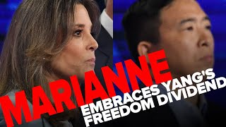 Marianne Williamson embraces Andrew Yang Freedom Dividend