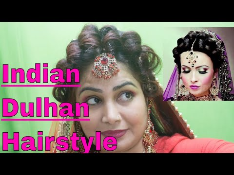 Latest Indian Bridal Puff Braid Juda Hairstyle For Girls Monalisa