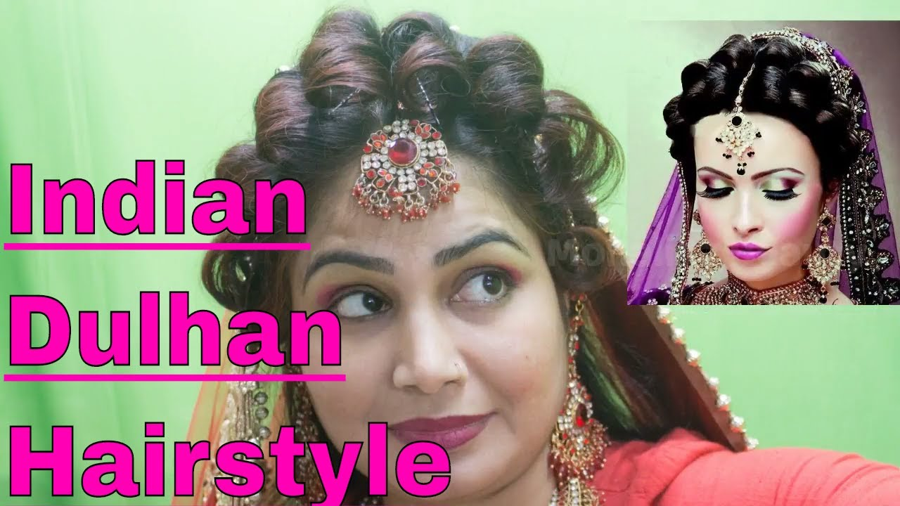 latest indian bridal puff braid juda hairstyle for girls