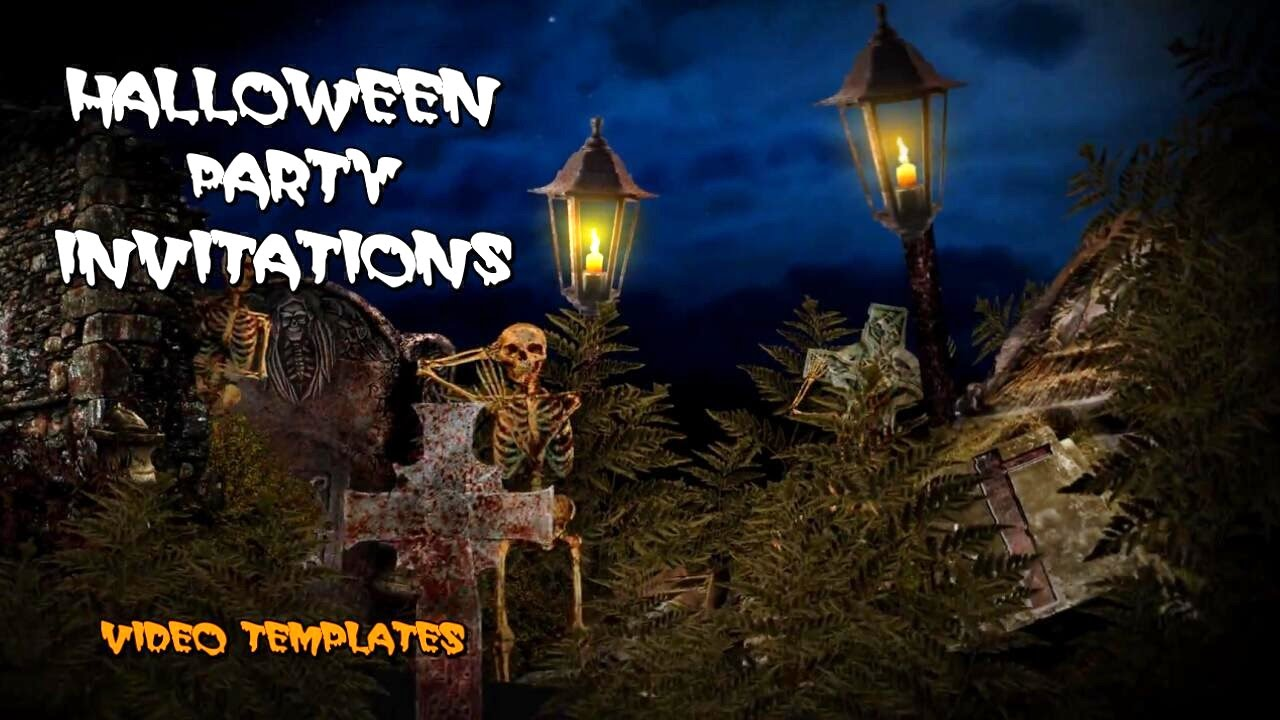 Spooky Halloween Party Invitations Create An Amazing Video Party ...