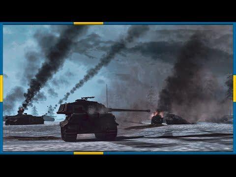 HEAVY GERMAN TANK BATTALION! Battle of the Bulge Line Defense |
