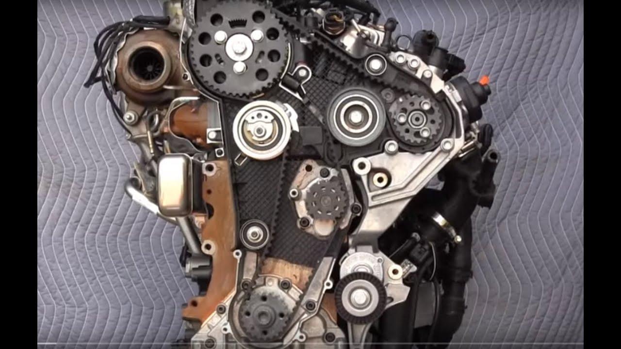solidworks volkswagen tdi 2.0 motor triger seti- engine timing set