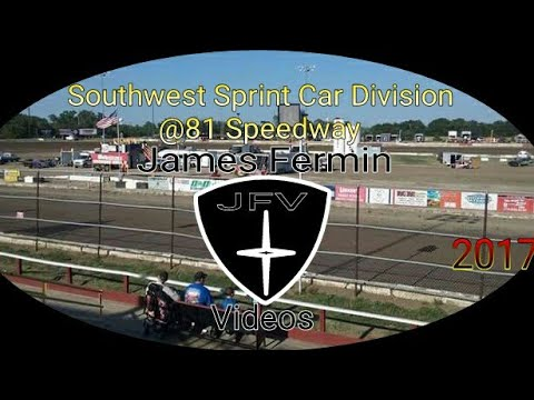 Southwest Non Wing Sprint Cars #7, Heat, 81 Speedway, 2017