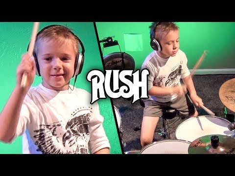 """Fly By Night, Rush"" Avery 6 year old Drummer"