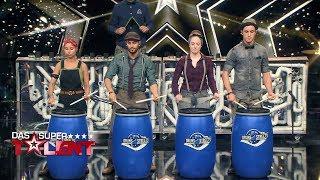 Drums2Streets trommeln gerne auf Abfall   Das Supertalent 2017   Sendung vom 30.09.2017