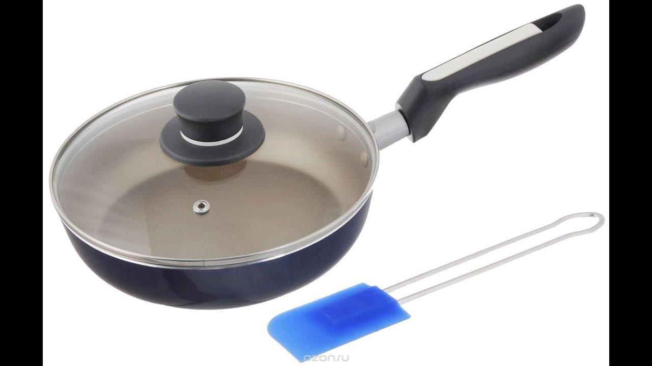 Сковорода с антипригарным покрытием - можно перемешивать ложкой .