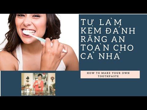 Công thức tự làm kem đánh răng TỐT - RẺ - LÀNH tại nhà/How to Make Your Own Toothpaste