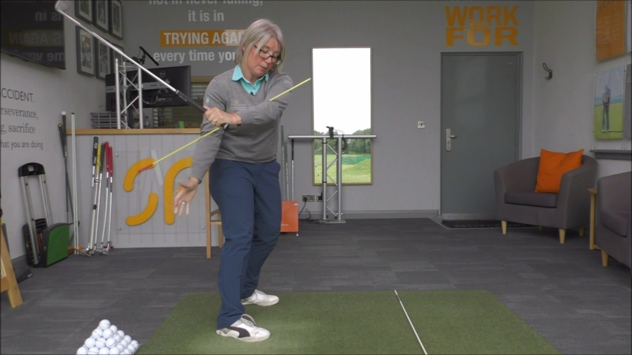 Golf swing arm rotation, part 3  How to move your arms & body on the down  swing