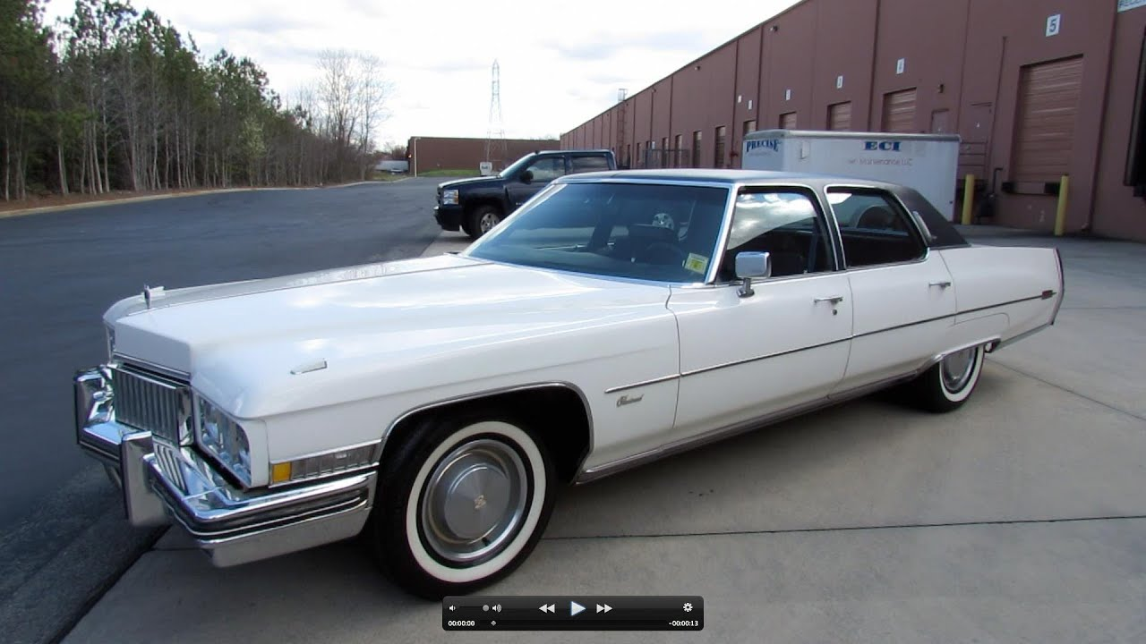 1973 Cadillac Fleetwood Brougham Start Up, Exhaust, and In Depth ...