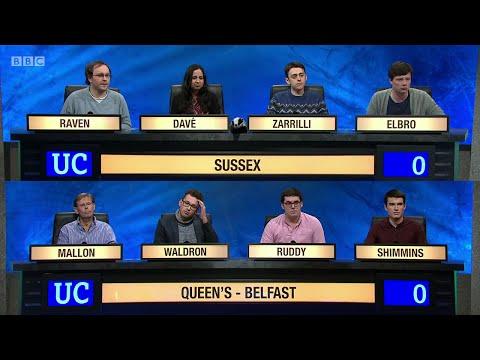 University Challenge S45E08 - University of Sussex vs Queen's University, Belfast.