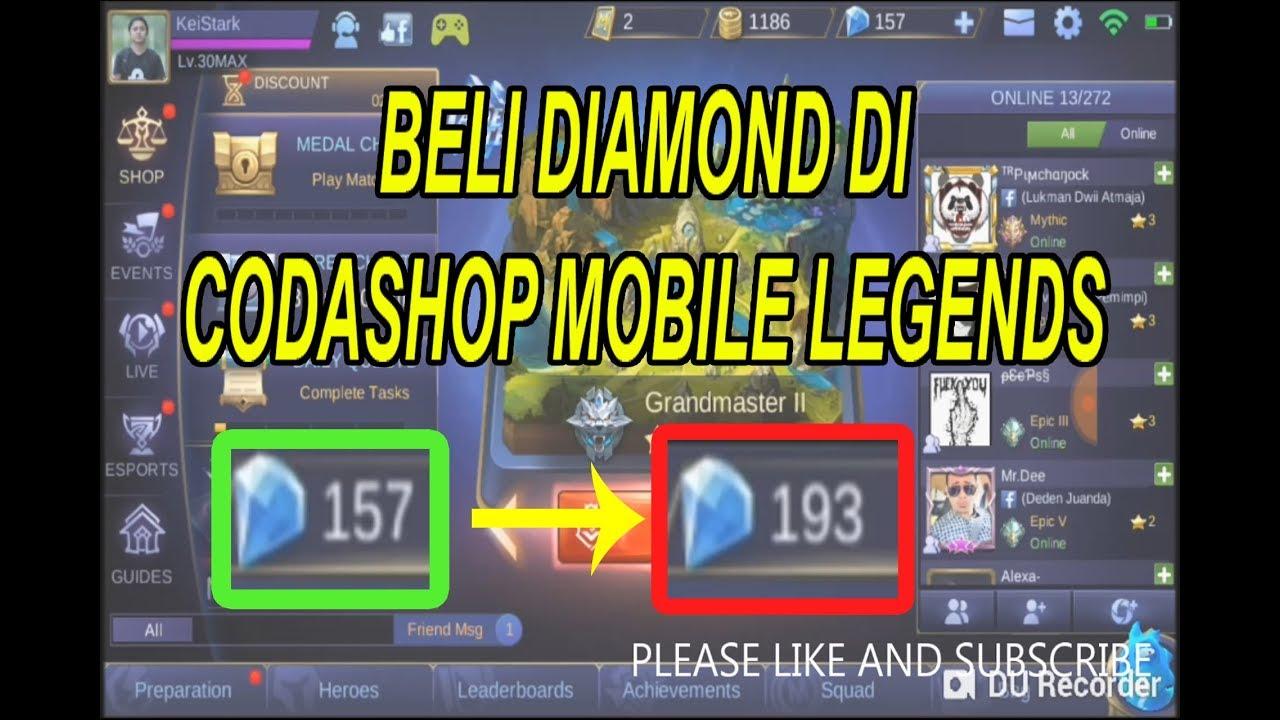 (NEW) membeli diamonds di codashop mobile legends 2018