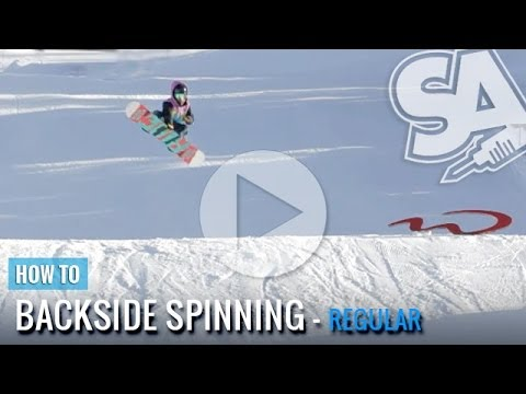 How To Spin Backside 180's, 360's, 540's & 720's On A Snowboard (Regular)