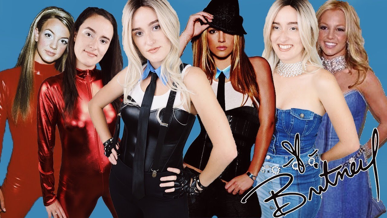 Britney Spears Halloween Tutorial Oops I Did It Again Me Against The Music Denim Outfit Youtube
