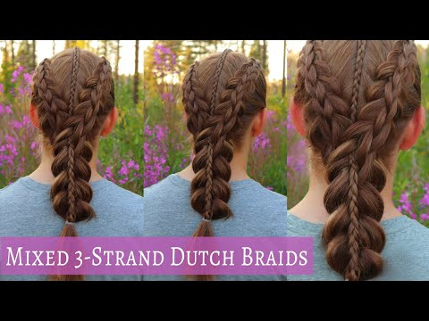 3-Strand Braid Combo | Easy Hairstyle for Medium Long Hair | Braided Hairstyles thumbnail