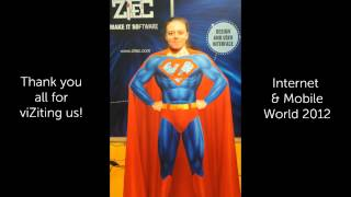 Zupermen at Zitec booth, IMW 2012