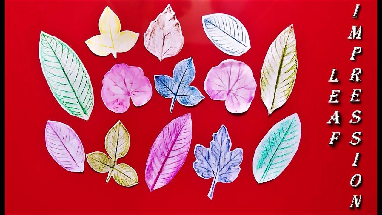 Leaf Impression Art | Easy Leaf Printing for Kids | Leaf Painting
