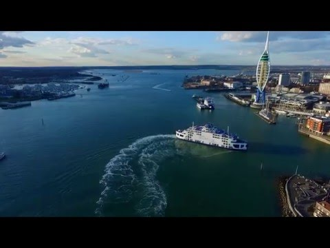 Stunning Portsmouth and Gosport video from the sky