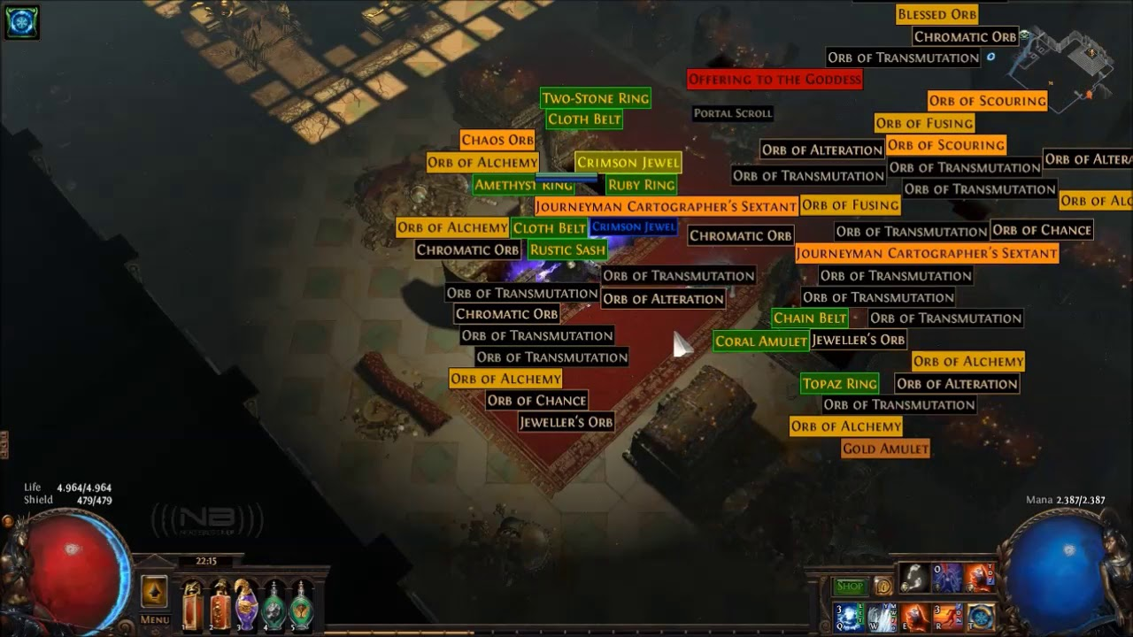 NEW UNIQUE] The Flow Untethered, Cloth Belt : pathofexile