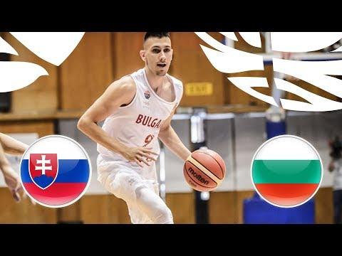 Slovakia v Bulgaria - Full Game - FIBA U20 European Championship Division B 2018