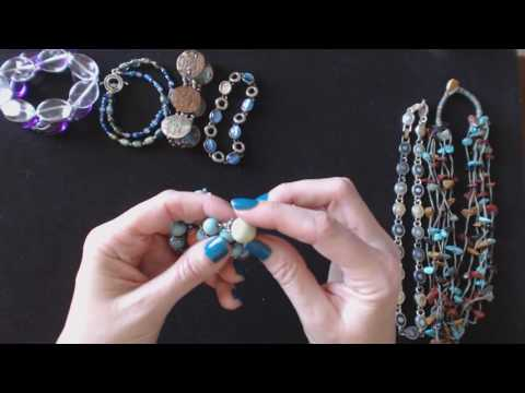 ASMR Whisper & Gum Chewing ~ Thrift Store Jewelry Haul Show