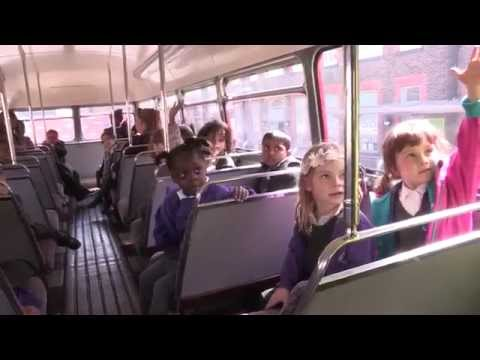 Back to school for an Arriva London Heritage Fleet bus