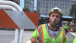 HASA construction noise on West Street by Battery Tunnel
