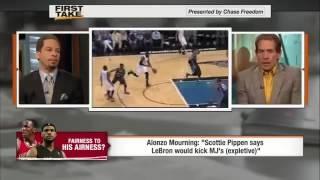 First Take Scottie Pippen: LeBron would kick Jordan's a$$ in 1 on 1