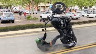 HARLEY WHEELIES GONE WRONG 2018