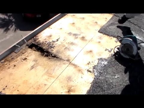 Water Damage Repair On A Flat Roof Roofing Youtube
