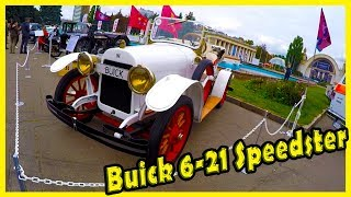 Old American Sport Car Buick 6-21 Speedster 1921 Review. Rare Classic Supercars Buick 6-21