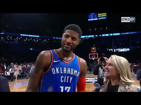HIGHLIGHTS: PG-13 GOES OFF in the 4th, OKC beats Brooklyn 114-112