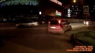 Сбил пешехода в Новосибирске 06,11,2013