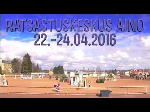 Laakso Vilma & Raita 95cm @ Ratsastuskeskus Aino 23.4.2016