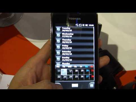【Mobile world Congress 2010】TOSHIBA 「TG02」