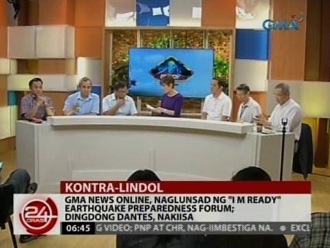 "24Oras: GMA News Online, naglunsad ng ""I M Ready"" earthquake preparedness forum"