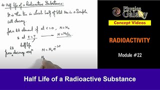 Calculate Half Life Of Radioactive Substance - Study Material for ...