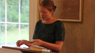 Kristin LeMay at the Emily Dickinson Museum