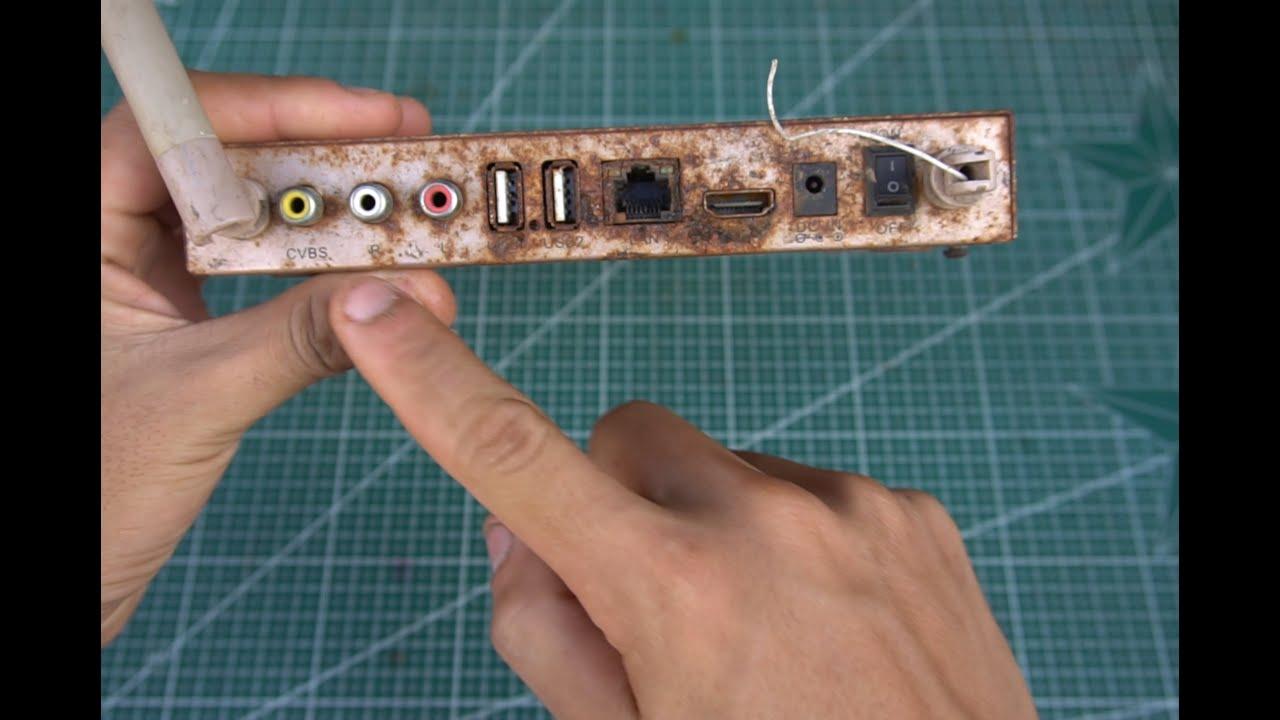 Phục hồi tái chế Đầu Android Box rỉ sắt từ bãi rác