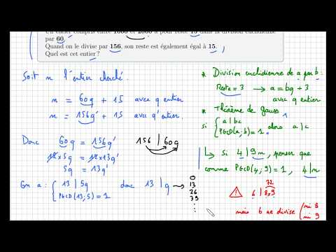 Arithmétique - Savoir Utiliser Le Théorème De Gauss - IMPORTANT - Terminale S Spécialité